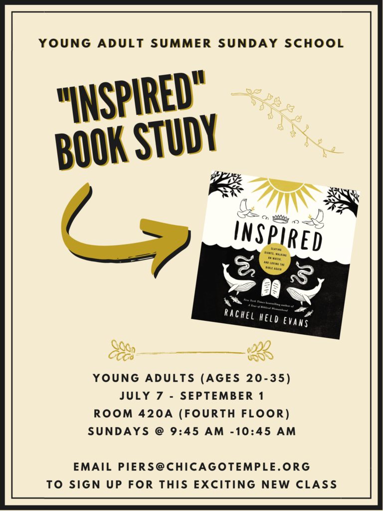 Young Adult Summer Sunday School – The Chicago Temple